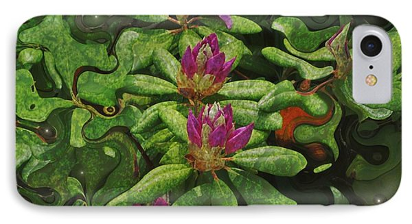 Fireflies And Flowers IPhone Case by Kathie Chicoine