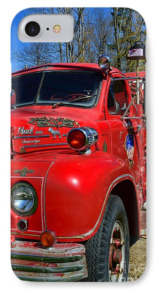 Fireman - A Very Old Fire Truck IPhone Case by Paul Ward
