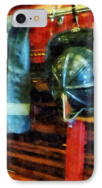Fireman - Fireman's Helmet And Jacket Phone Case by Susan Savad