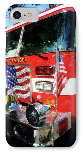 Fireman - Front Of Fire Engine Phone Case by Susan Savad