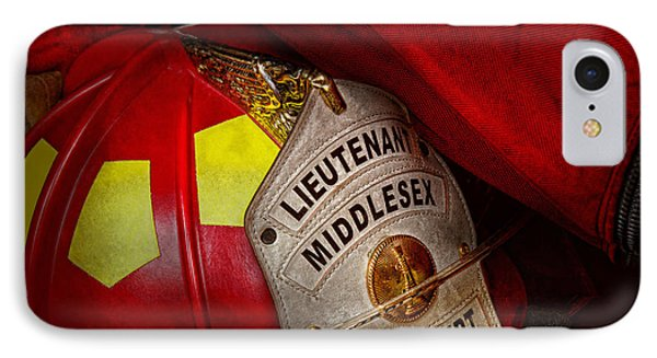 Fireman - Hat - Everyone Loves Red Phone Case by Mike Savad