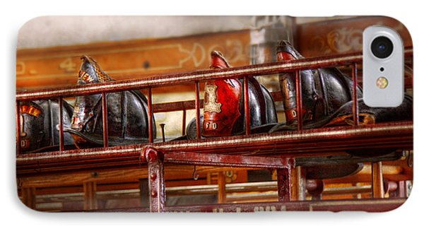 Fireman - Ladder Company 1 Phone Case by Mike Savad