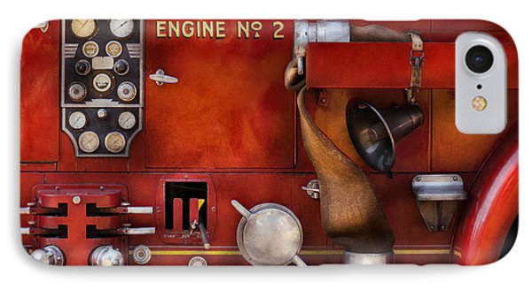 Fireman - Old Fashioned Controls Phone Case by Mike Savad