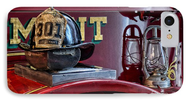 Firemen - Fire Helmet Lieutenant Phone Case by Paul Ward