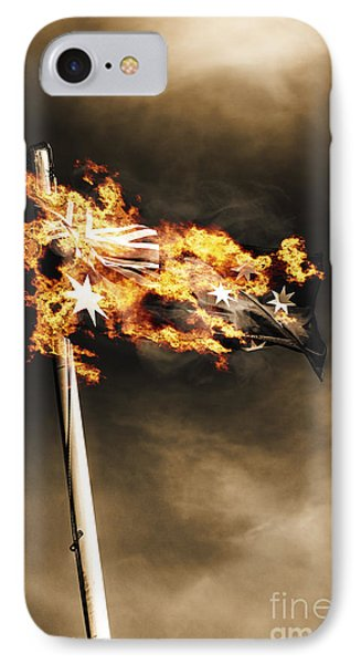 Fires Of Australian Oppression IPhone Case by Jorgo Photography - Wall Art Gallery