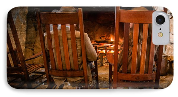 Fireside Chat IPhone Case by Carl Clay