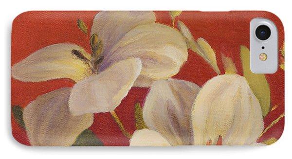 Fireside Flowers I IPhone Case by Lanie Loreth