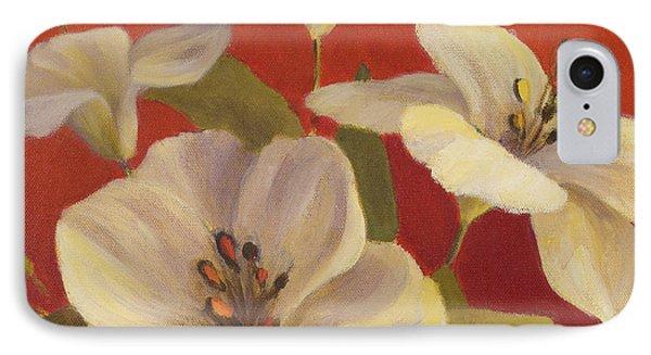 Fireside Flowers II IPhone Case by Lanie Loreth