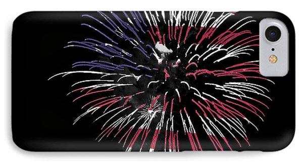 Firework Over Flag Phone Case by Robert Graybeal