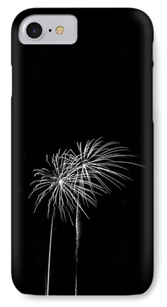 Firework Palm Trees Phone Case by Darryl Dalton