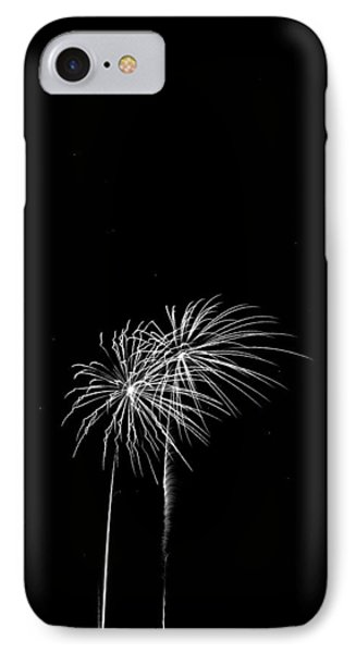 Firework Palm Trees IPhone Case by Darryl Dalton