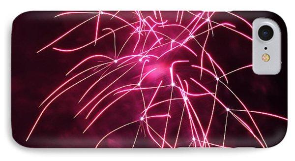 Rockets Red Glare Fireworks Phone Case by Howard Tenke