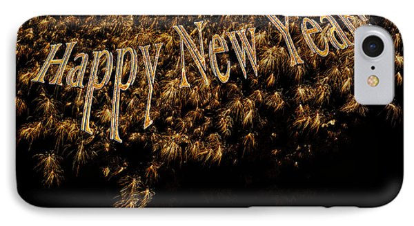 Fireworks 2013 In Elegant Gold And Black Phone Case by Marianne Campolongo