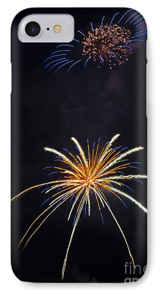 Fireworks 3 The Spaceship Phone Case by Dianne Phelps