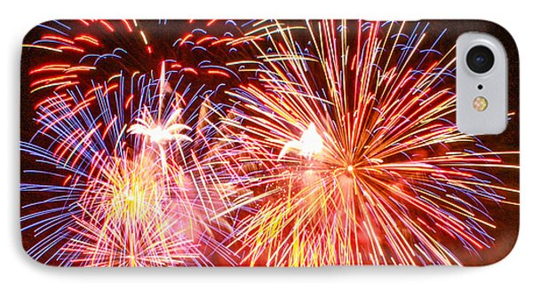 IPhone Case featuring the photograph Fireworks 4th Of July by Robert Hebert
