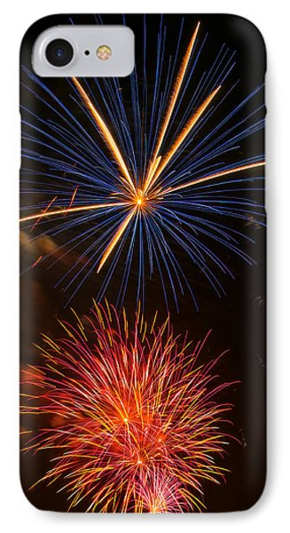 Fireworks 5 IPhone Case by Chris Flees