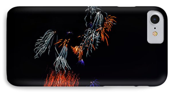 Fireworks Abstract IPhone Case by Robert Bales