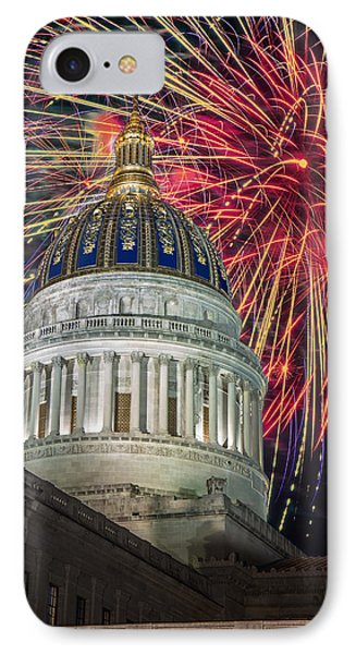 Fireworks At Wv Capitol IPhone Case