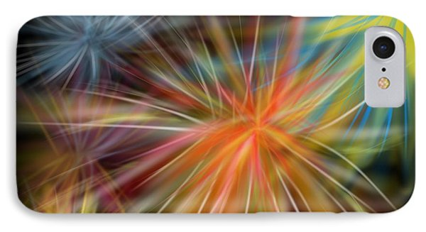 IPhone Case featuring the digital art Fireworks by Christine Fournier