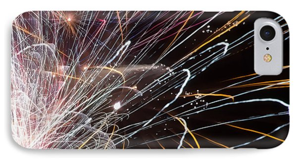 Fireworks Cropped Phone Case by Carl Clay