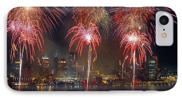 Fireworks Display At Night On Freedom IPhone Case by Panoramic Images