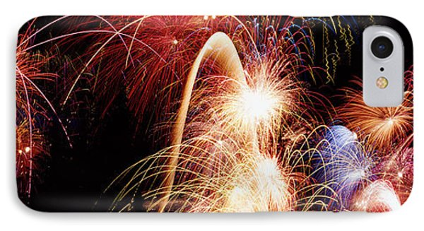 Fireworks Display, Banff, Alberta IPhone Case by Panoramic Images