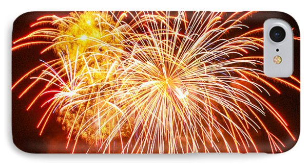IPhone Case featuring the photograph Fireworks Flower by Robert Hebert