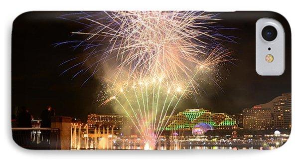 Fireworks Glow At Vivid Aquatique 2014 By Kaye Menner IPhone Case by Kaye Menner