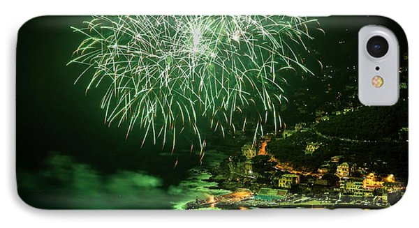 IPhone Case featuring the photograph Fireworks Hdr by Antonio Scarpi