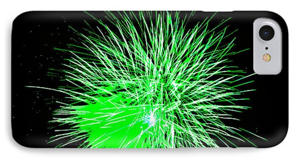 Fireworks In Green IPhone Case by Michael Porchik