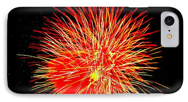 Fireworks In Red And Yellow IPhone Case by Michael Porchik