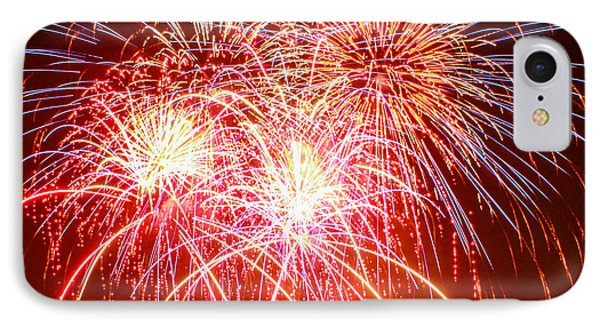 Fireworks In Red White And Blue IPhone Case by Robert Hebert