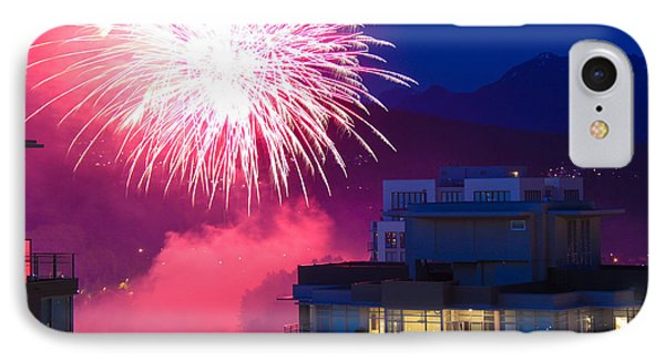 Fireworks In The City IPhone Case by Nancy Harrison