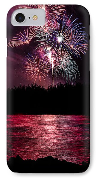 Fireworks In The Country - Pink Phone Case by Justin Martinez