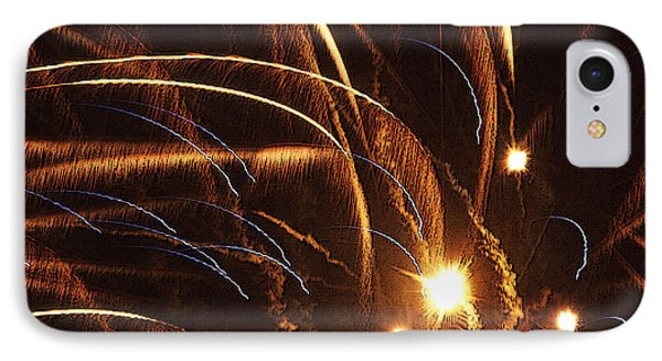 Fireworks In The Wind Phone Case by Anthony Dalton