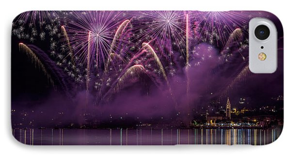 Fireworks Lake Pusiano IPhone Case by Roberto Marini