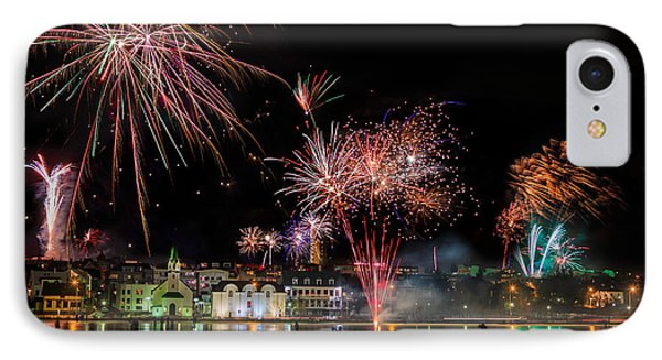Fireworks On New Years Eve, Reykjavik IPhone Case by Panoramic Images