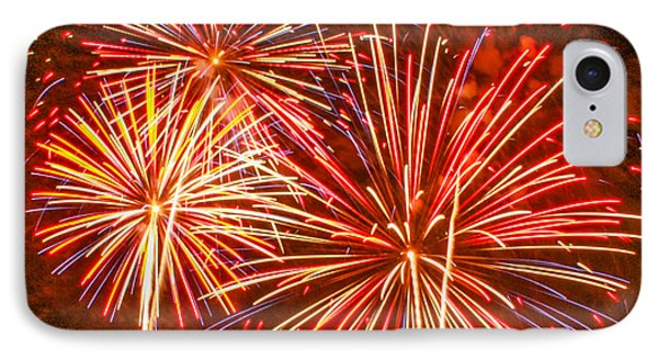 IPhone Case featuring the photograph Fireworks Orange And Yellow by Robert Hebert
