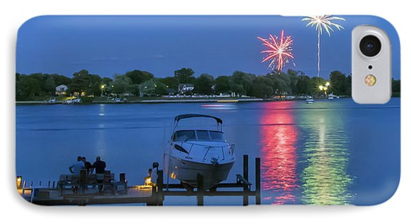 Fireworks Over Stony Creek Phone Case by Brian Wallace