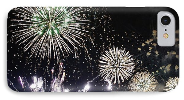 IPhone Case featuring the photograph Fireworks Over The Hudson River by Lilliana Mendez