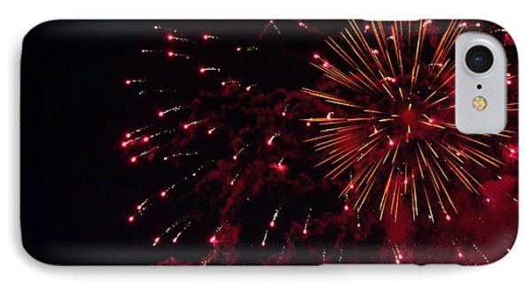 Fireworks Series V IPhone Case by Suzanne Gaff