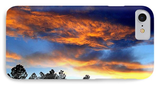 Firey Sunset Of Angel Fire IPhone Case by Cindy Croal