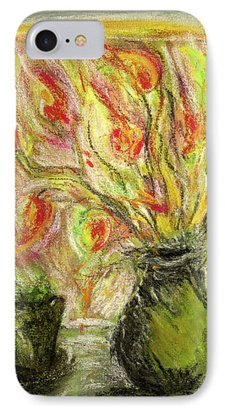 IPhone Case featuring the painting Firery Window by Linde Townsend