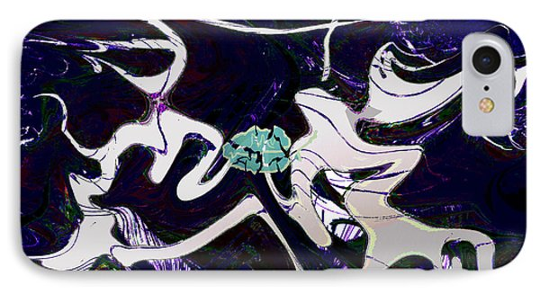 Firmament Cracked #11 Tapestry Of Pain Phone Case by Mathilde Vhargon