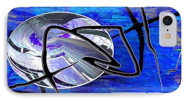 Firmament Cracked #6 - Veneers IPhone Case by Mathilde Vhargon