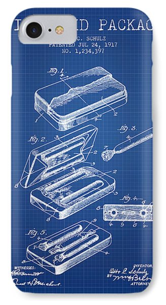 First Aid Package Patent From 1917 - Blueprint IPhone Case by Aged Pixel