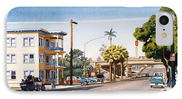 First Avenue In San Diego Phone Case by Mary Helmreich