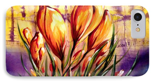 First Blooms Of Spring IPhone Case by Karen  Ferrand Carroll