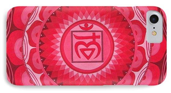 First Chakra Mandala Phone Case by Vlatka Kelc