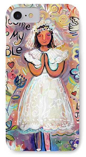 First Communion Girl Phone Case by Jen Norton